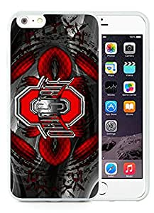 Ohio State University(OSU) Buckeyes White iPhone 6 Plus 5.5 inch TPU Cellphone Case Popular and Grace Style