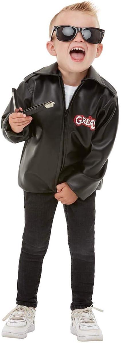 Funidelia | Chaqueta de T-Birds - Grease Oficial para niño y niña Talla 5-6 años ▶ Años 50: Rock & Roll, John Travolta, Grease - Negro