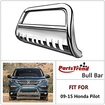 Chrome For Honda Pilot YF3//YF4 Front Bumper Protector Brush Grille Guard