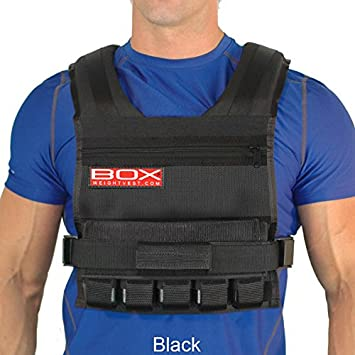 25 Lb Box Weight Vest Black