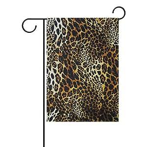 """alirea leopardo piel fondo poliéster bandera de Jardín al aire libre jardín bandera casa fiesta Decor, doble cara, 28""""X 40"""""""