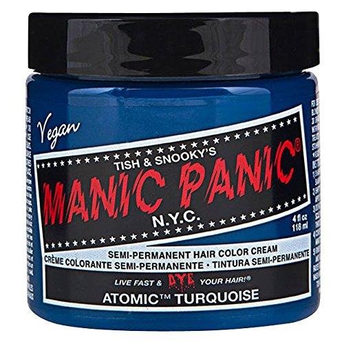 Manic Panic Atomic Turquoise Hair Dye 4 fl oz (Turquoise Hair)