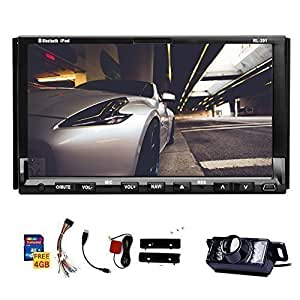 double din universal in dash hd touch screen car dvd player gps navigation stereo am fm radio. Black Bedroom Furniture Sets. Home Design Ideas