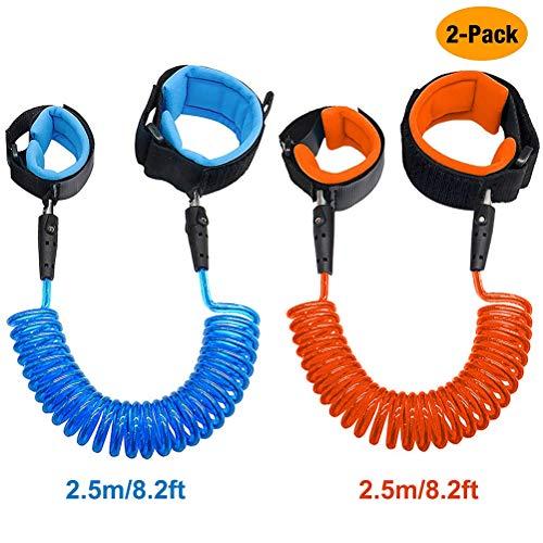 2pk Kids Safety Anti-lost Strap Walking Harness Wrist Leash Toddler Blue /&Orange