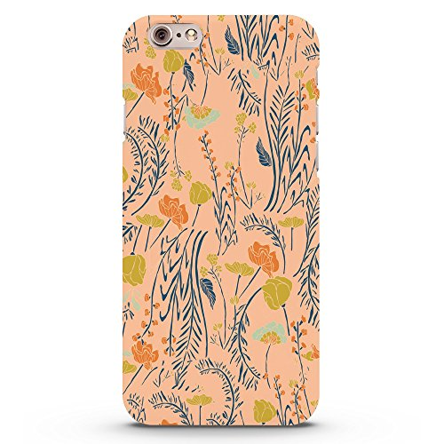 Koveru Back Cover Case for Apple iPhone 6 - Texture of grass & Flowers