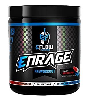 ENRAGE Preworkout – 4 Flavor Choices – Creatine, Beta Alanine, Citrulline, Agmatine, Caffeine, Energy, Focus, Strength, Endurance, Performance, Pump Rocket Pop