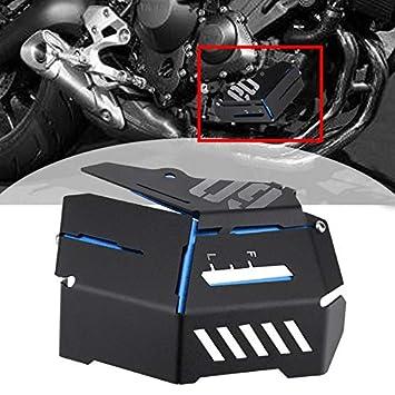 OUYAWEI Per Yamaha MT-09 FZ-09 FJ-09 MT-09 Tracer//Tracer 900 2014-2016 Accessori Moto Refrigerante Recupero Serbatoio Coperchio schermatura Blu