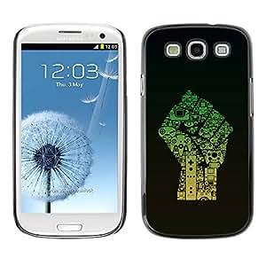 PC/Aluminum Funda Carcasa protectora para Samsung Galaxy S3 I9300 Fist Power / JUSTGO PHONE PROTECTOR