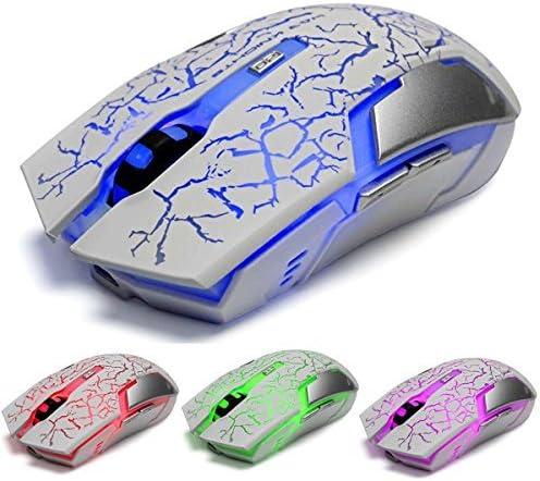 Vegcoo C10 Kabellose Optische Gaming Maus Weiß Weiß Computer Zubehör