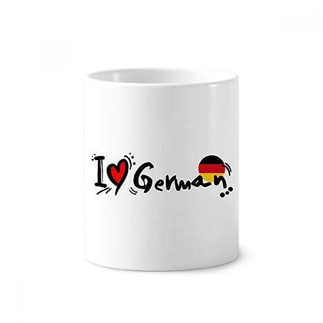 DIYthinker Amo Corazón de la bandera alemana Mundial de cerámica titular taza del cepillo de dientes