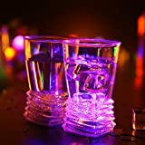 X&L LED Lighting Glasses Water Induction Flowers Straight Glass Cups / Drinks Cups Bar Nightclub Party (battery purchased by the buyer)