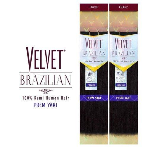- Outre Remy Human Hair Weave Velvet Brazilian Perm Yaki (14