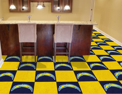 Fan Mats San Diego Chargers Carpet Tiles, 18'' x 18'' Tiles by Fanmats