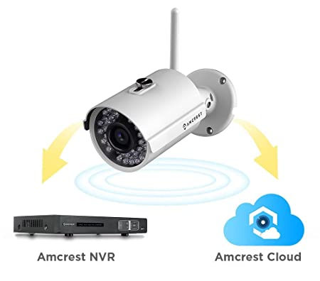 Amcrest IP2M-842W ProHD Outdoor 1080P WiFi Wireless IP Security Bullet Cámara, IP66 Impermeable, Blanco: Amazon.es: Electrónica