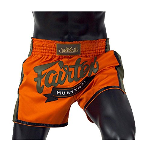 Fairtex New Muay Thai Boxing Shorts Slim Cut - Red, Orange, Blue, Yellow, S, M, L, XL