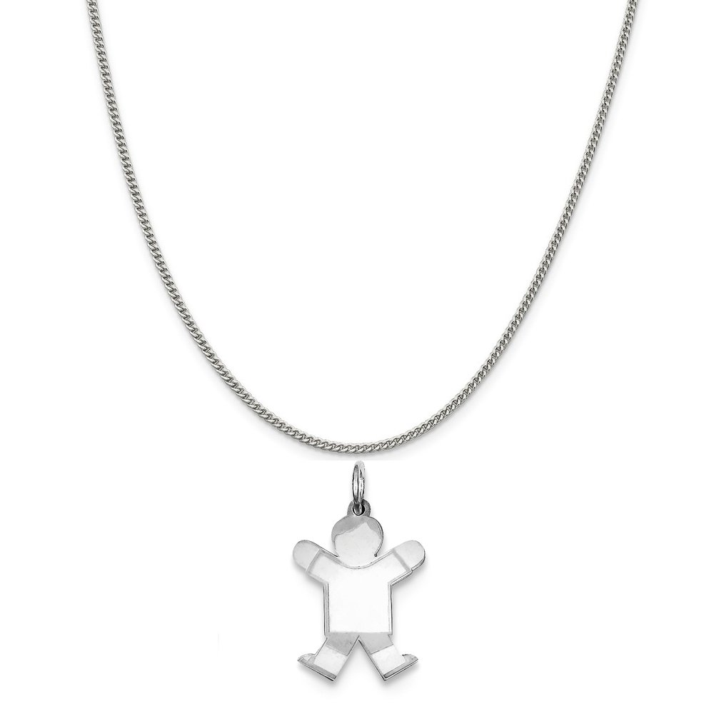 16-20 Mireval Sterling Silver Small Charm on a Sterling Silver Chain Necklace