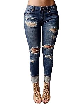 Denim Pantalones Vaqueros de Mujer Levanta Pantalones ...