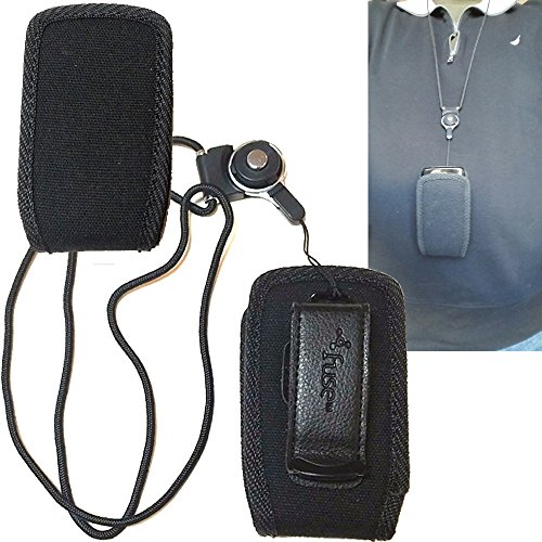 Around the Neck Hanging Lanyard Open Top Case for Samsung GreatCall Jitterbug plus flip phone. (Jitterbug Plus Cell Phone)