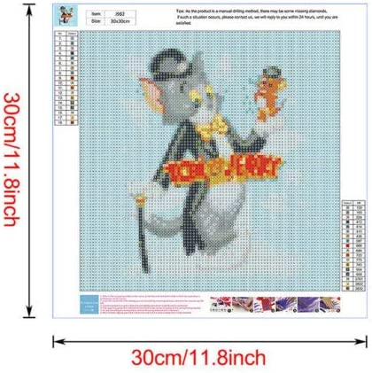 Diamond Painting Embroidery Cross Craft Stitch Cartoon Mural Decor Kids Gifts 1 x SPARE Accessories