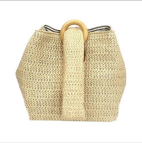 Onemoret donna paglia borsa da borsa donne borsa donna rattan estate paglia Fashion piccola borse borse femminile per spiaggia borsetta r8frxv