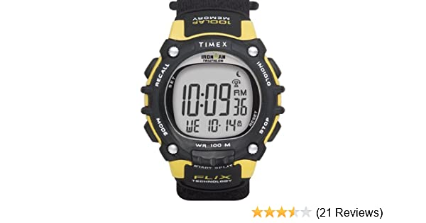 Amazon.com : Timex Ironman Triathlon 100-Lap Resin Strap Watch #T5F591 : Heart Rate Monitors : Sports & Outdoors