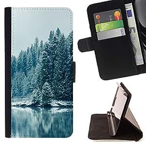 Momo Phone Case / Flip Funda de Cuero Case Cover - Nevado Forrest;;;;;;;; - LG Nexus 5 D820 D821