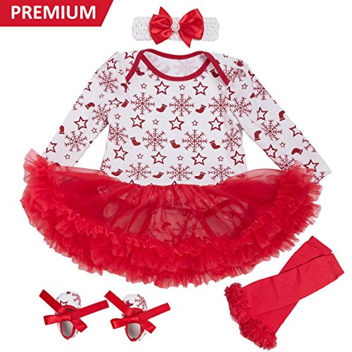 discount on Baby Girls Christmas Tutu Romper Dress