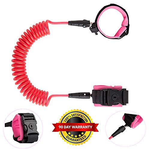 Anti Lost Wrist Link for Baby Kids Leash Child Safety Wristband Toddler Harness Leash with Lock (Pink)