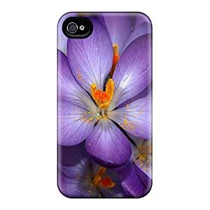 3d Purple Flower Case Compatible With Iphone 4/4s/ Hot Protection Case
