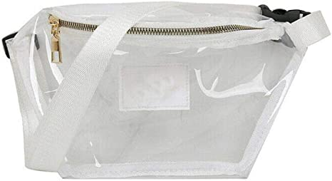 QQOPI Señoras Hombres Funny Waist Pack Clear Jelly Purse Mujeres ...