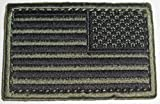 Onermade American Flag Patch O.D. Green & Black (6 Pack) Reverse