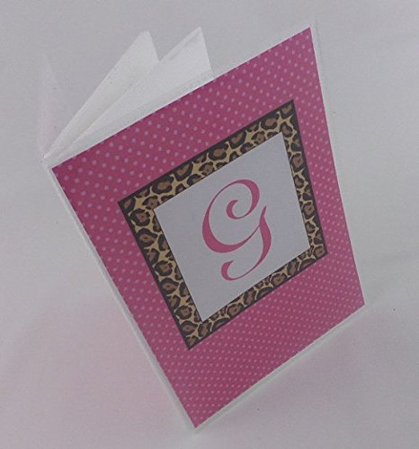 Monogrammed Photo Album . Leopard hot pink. 388 . 4x6 or 5x7