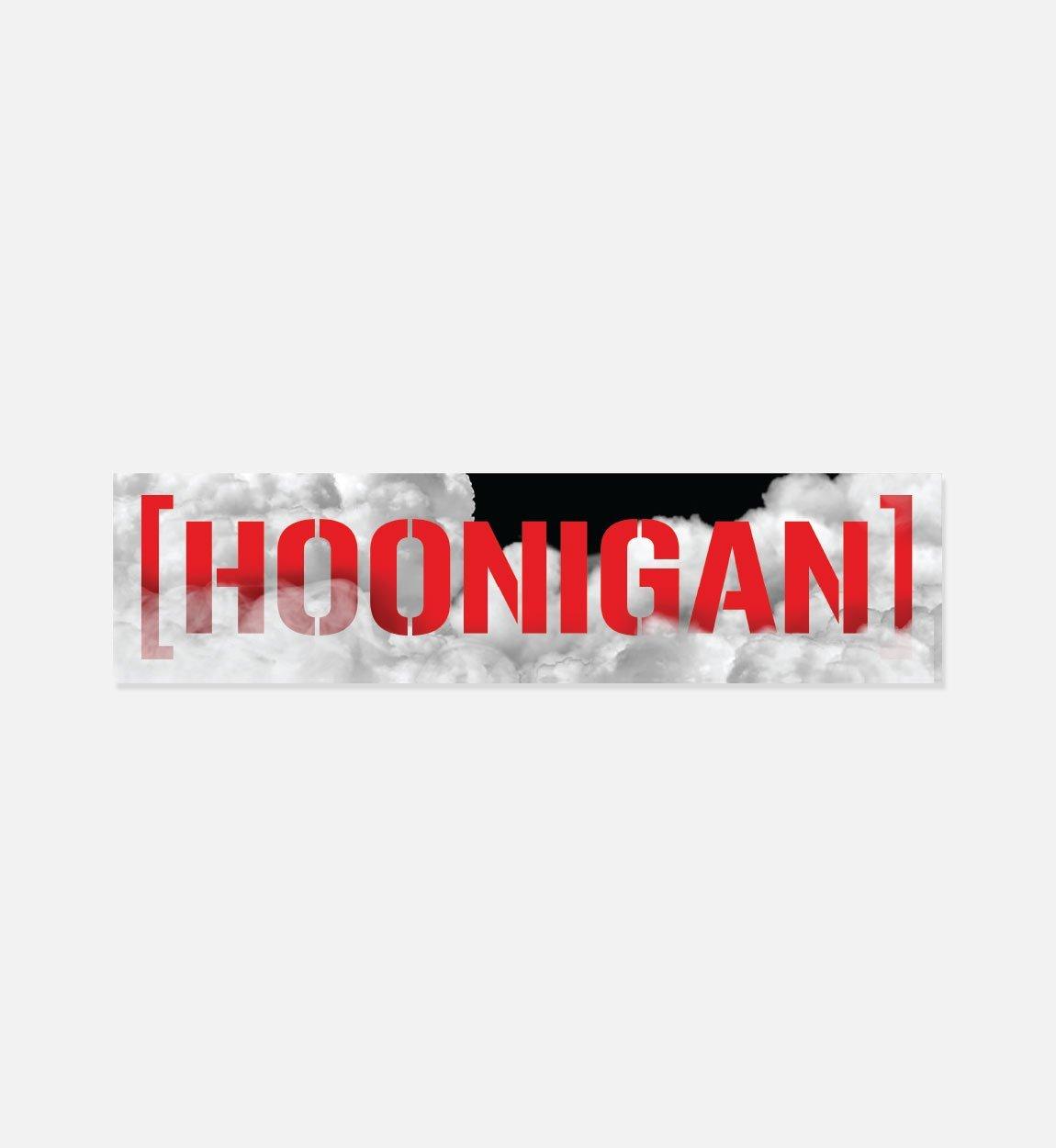 Hoonigan burn out censor bar premium vinyl sticker 8 die cut vinyl decal customize your laptop notebook skateboard luggage car truck bumper