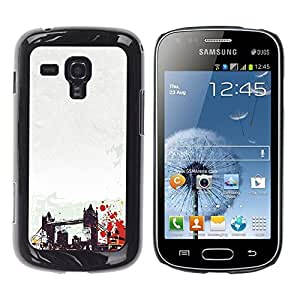 Caucho caso de Shell duro de la cubierta de accesorios de protección BY RAYDREAMMM - Samsung Galaxy S Duos S7562 - Brooklyn Bridge New York America Usa Art