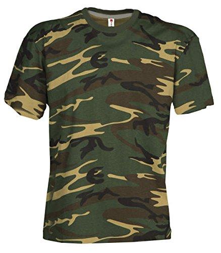 Damen Camouflage Classic Army Style T-Shirt Kurzarm in Tarnfarbe S.B.J - Sportland