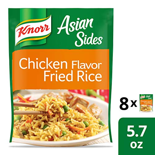 Knorr Asian Sides Rice Side Dish For A Tasty Rice Side Dish Chicken Fried Rice No Artificial Flavors 5.7 Oz, 8 Count (Best Chicken Fried Rice)