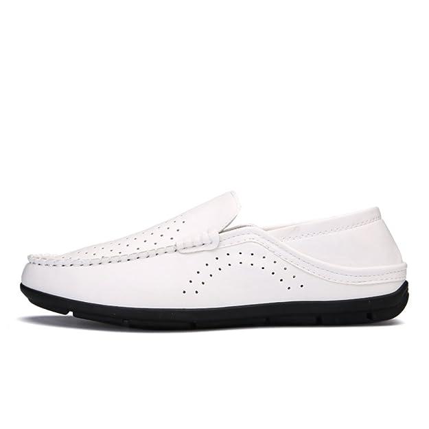 Versión coreana de hueco zapatos casuales transpirables en verano/Zapatos casuales de negocios/Ronda pies tapones cómodos zapatos de conducción-A Longitud del pie=26.8CM(10.6Inch) KfQUBrw