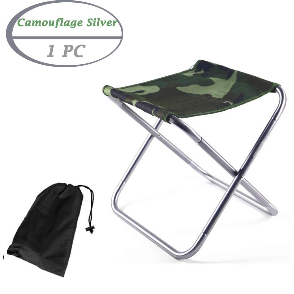 B,Metal, One Size Zaptex Folding Stool Chair Outdoor Foldable Fishing Chairs Traveling Camping Fishing Fold Ultralight Chairs