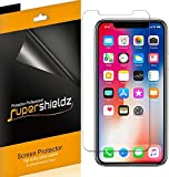 [6-Pack] Supershieldz for Apple iPhone X Screen Protector, High Definition Clear Shield + Lifetime Replacements Warranty