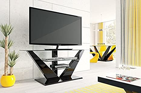 Mueble TV Design – Color: Negro Laca: Amazon.es: Electrónica