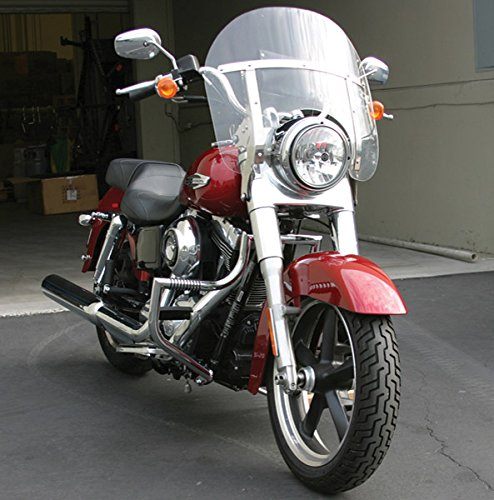 LINDBY 114-1 Chrome Front Linbar Highway Bar (Fits 2012-2016 Harley-Davidson Fld Dyna Switchback) (Lindby Highway Bars)