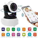 Kikionlife Security Camera Wireless Baby Monitor IP Motion Detection Security Surveillance CCTV Camera with Night Vision 720P Pan/Tile/Zoom Webcam Use in Baby Room Living room Market Home Kitchen