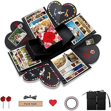 opamoo DIY Explosion Gift Box Hecho Caja Sorpresa en casa Regalo para cumpleaños, Navidad, Acción de Gracias: Amazon.es: Hogar