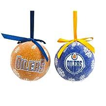 Edmonton Oilers Led Boxed Christmas Ornament Set