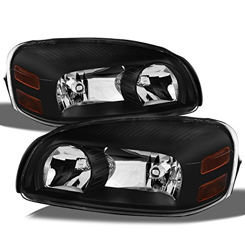 For Uplander Montana SV6 Terraza Relay Replacement Black Headlights Driver/Passenger Head Lamps Pair