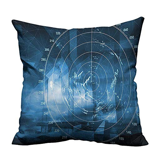 (YouXianHome Pillowcase with Zipper Modern Ship with Radar Exposure in The Screen Digital Electronic Hi Tech Ultra Soft & Hypoallergenic (Double-Sided Printing) 31.5x31.5 inch)