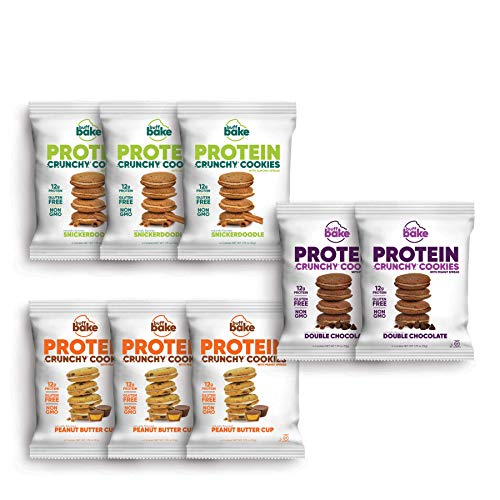 Buff Bake Protein Sandwich Cookie | Variety Pack | Crunchy | Gluten Free | Non-GMO Ingredients | 12 Grams of Hormone-Free Whey Protein | (8 Count, 1.79 Ounces)