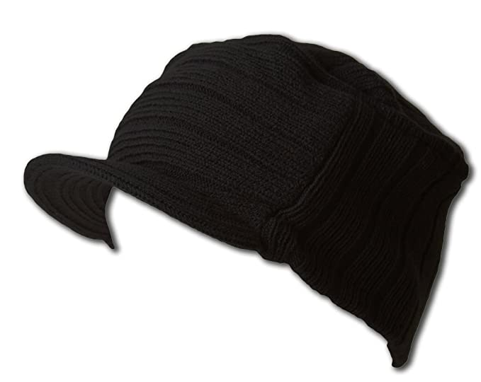 Image Unavailable. Image not available for. Color  Square Rib knitted short visor  Beanie ... 85b6706bce19