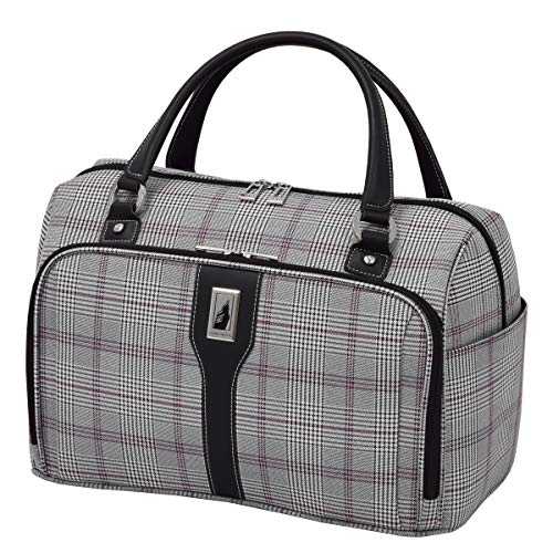 Luggage Sets Plaid (London Fog Knightsbridge 17-Inch Cabin Bag (Grey/Burgundy Glen Plaid))