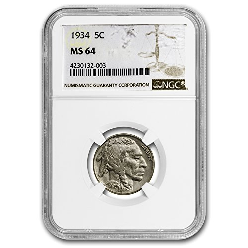 1934 Buffalo Nickel MS-64 NGC Nickel MS-64 NGC